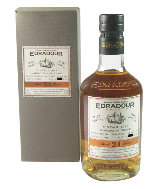 Edradour 21 Year Old, 1983 Official Bottling