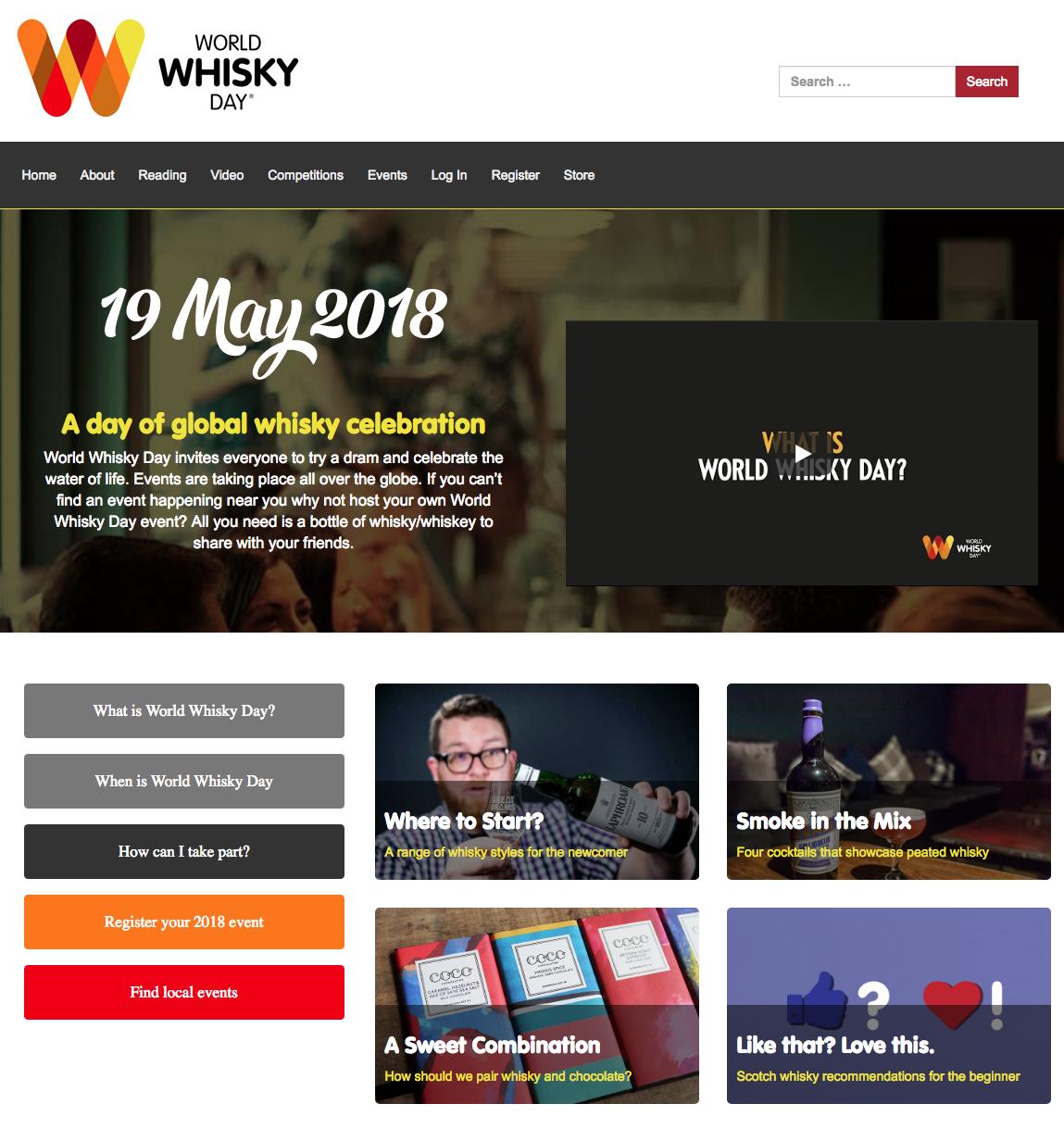 Celebrate World Whisky Day 2018