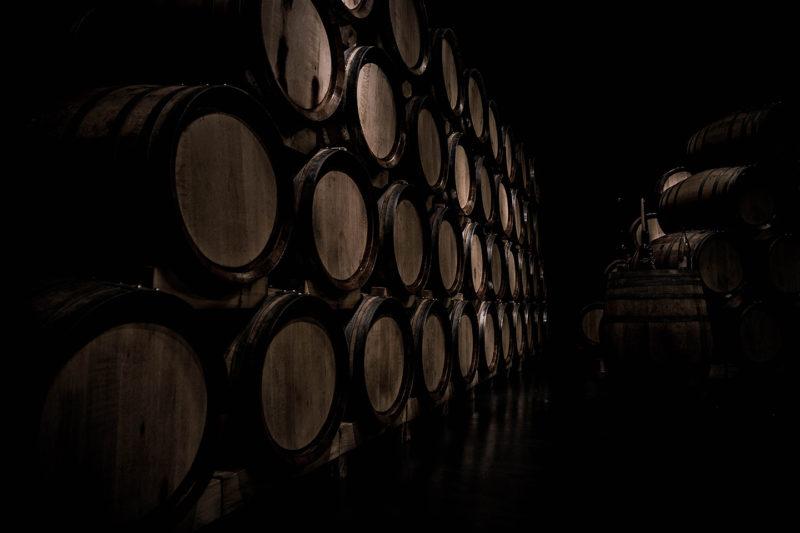 Whisky Casks At Distillery
